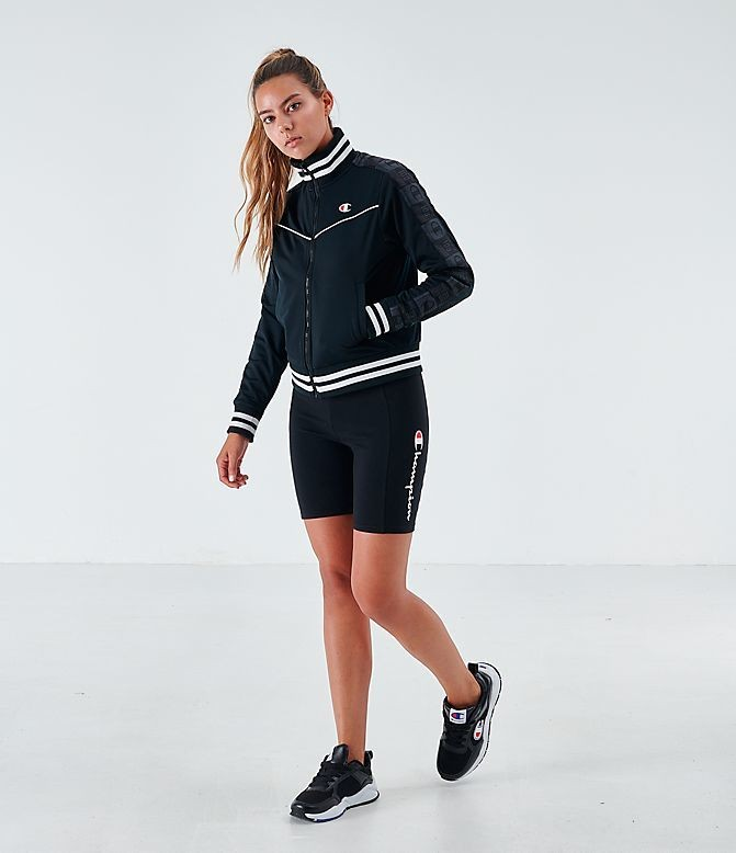 Women's Champion Life Track Jacket Black/White Sales