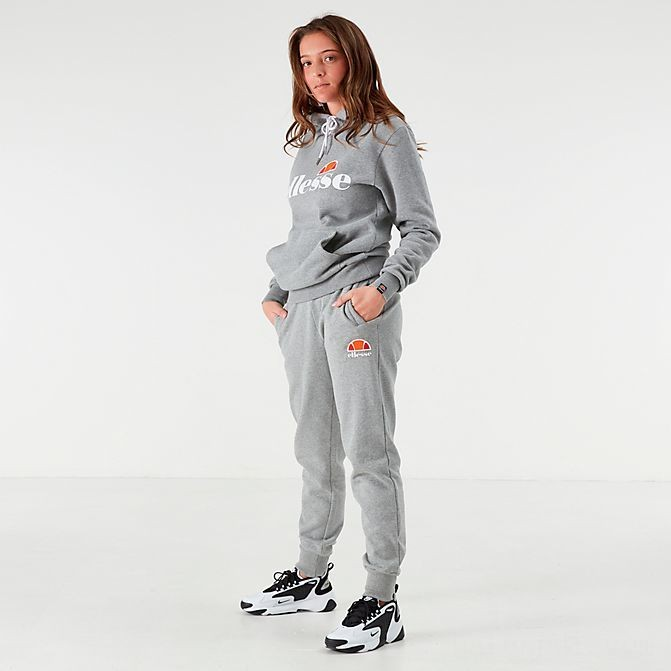 Women's Ellesse Queenstown Fleece Jogger Pants Grey Sales