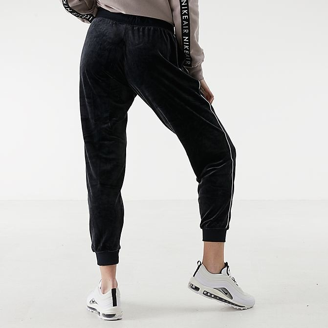 Women's Nike Sportswear Velour Heritage Jogger Pants Black/White Sales
