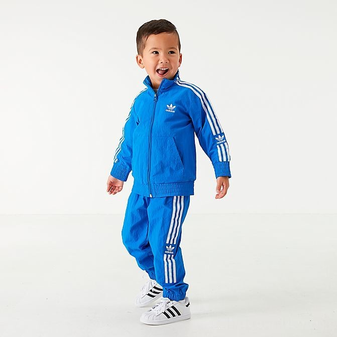 Boys' Infant and Toddler adidas Originals New Icon Track Suit Bluebird/White Sales