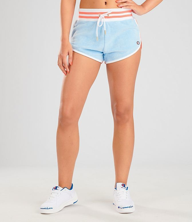 Women's Champion Life Terry Shorts Oceanfront Blue Sales