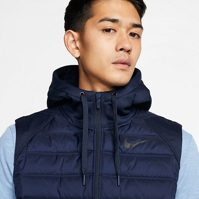 Men's Nike Therma Winterized Full-Zip Vest Blue Sales