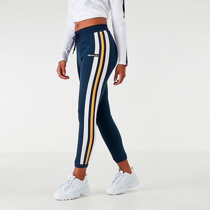 Women's Ellesse Lattea Track Jogger Pants Navy/White/Yellow Sales