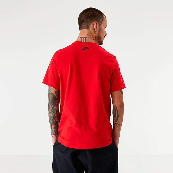 Men's Nike Sportswear Distorted Futura T-Shirt Red Sales
