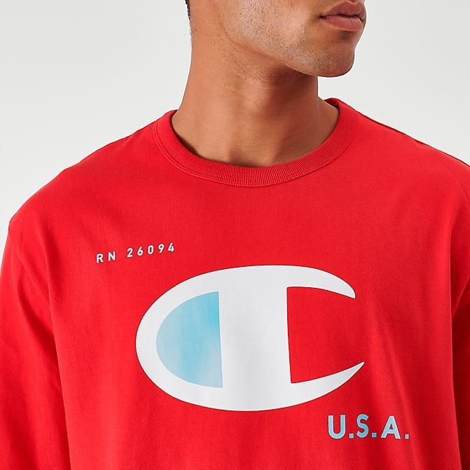 Men's Champion MCMXIX Long-Sleeve T-Shirt Red Sales