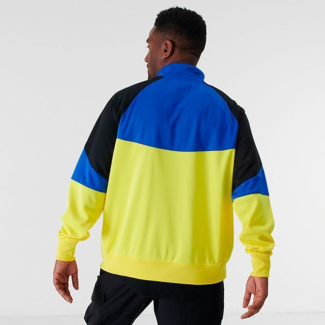 Men's Nike Sportswear Heritage Windrunner Jacket Dynamic Yellow/Hyper Royal/Black Sales