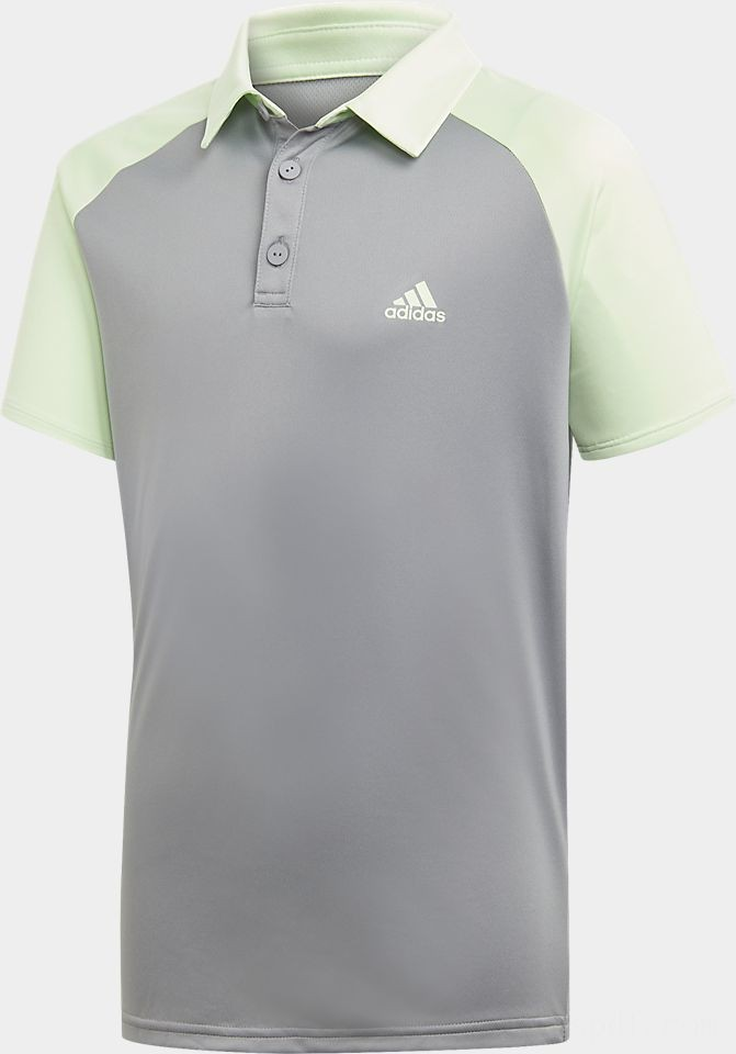 Boys' adidas Club Tennis Polo Shirt Glow Green/Grey Heather Sales