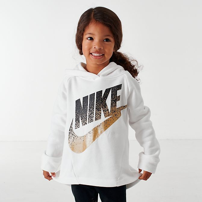Girls' Little Kids' Nike Futura Hoodie and Leggings Set Black/Gold Sales