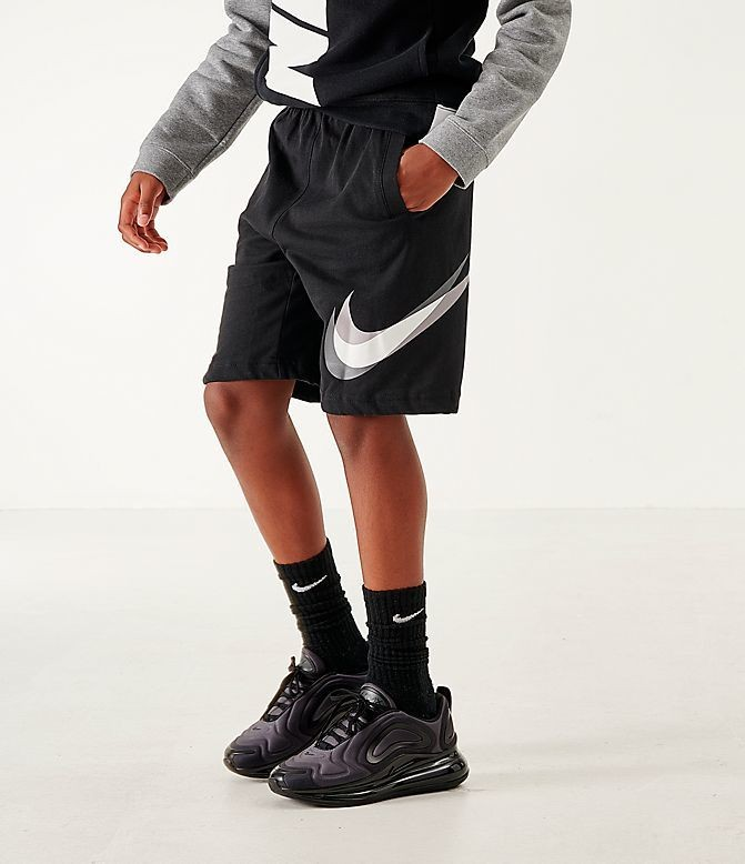Boys' Nike Sportswear Core Jersey Shorts Black/Gunsmoke Sales