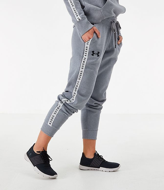 Women's Under Armour Originators Fleece Jogger Pants Grey Heather Sales