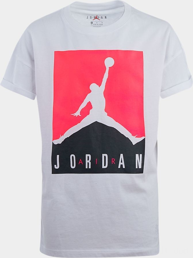 Girls' Jordan Glitch T-Shirt White Sales