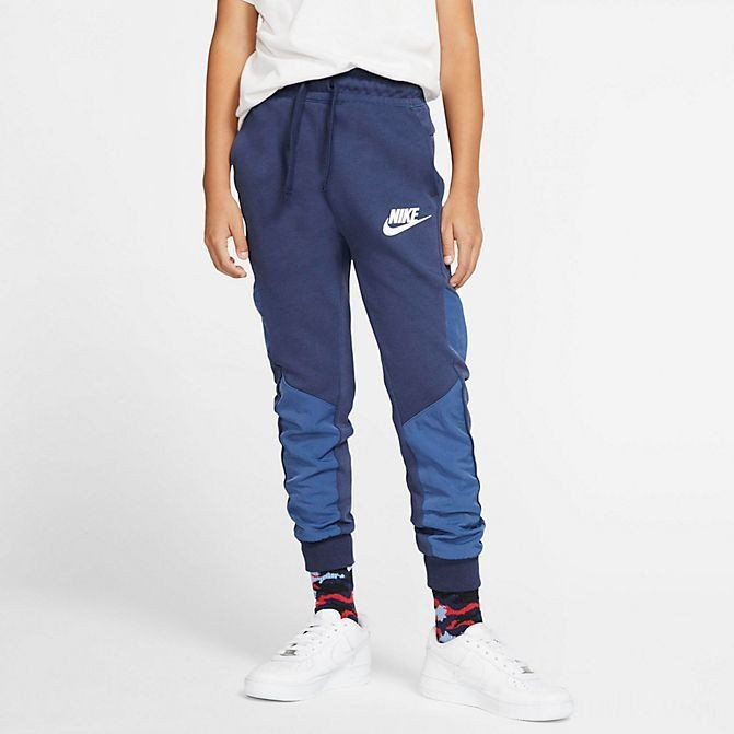 Boys' Nike Nike Sportswear Winterized Tech Fleece Jogger Pants Midnight Navy/Heather/Mystic Navy/White Sales