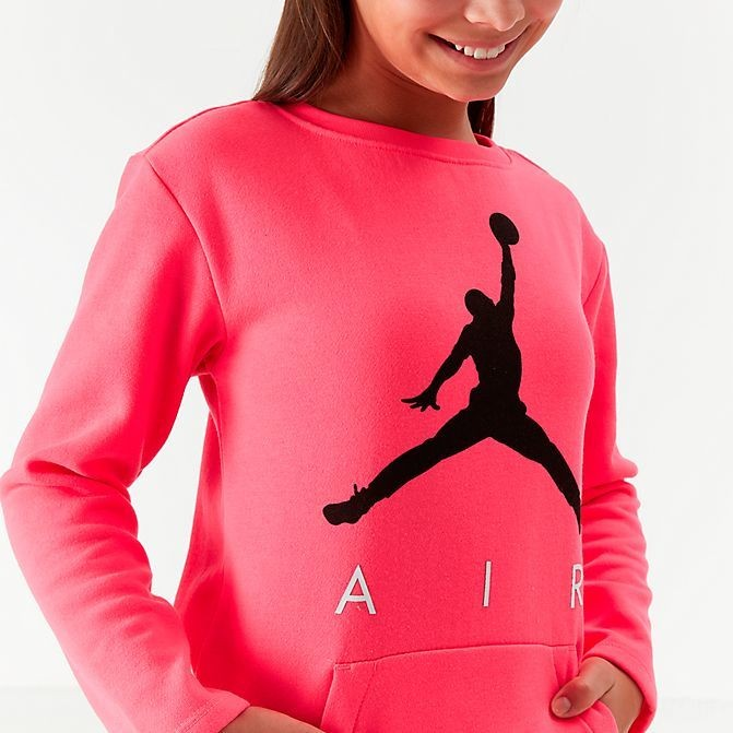 Girls' Jordan Jumpman Glitch Fleece Sweatshirt Dress Pink/Black Sales