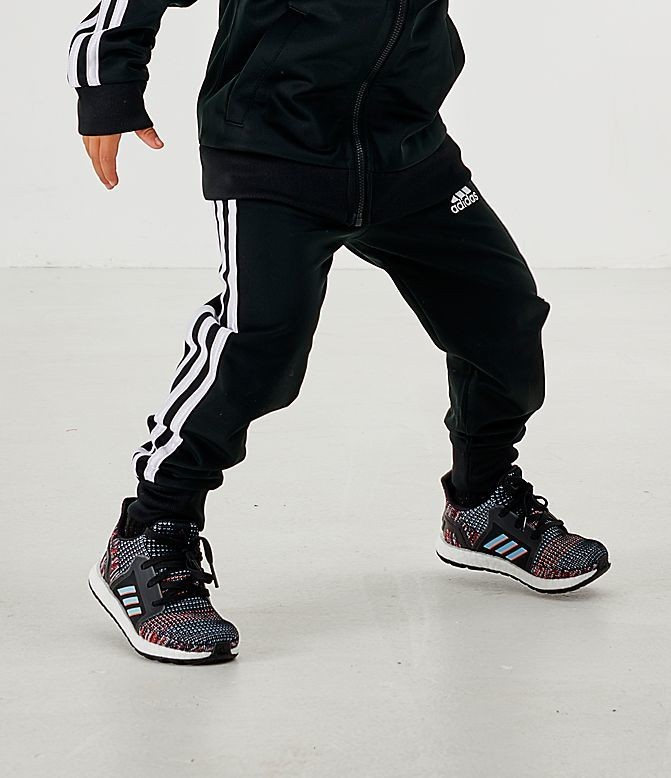 Little Boys' adidas Tricot Jogger Pants Black/White Sales