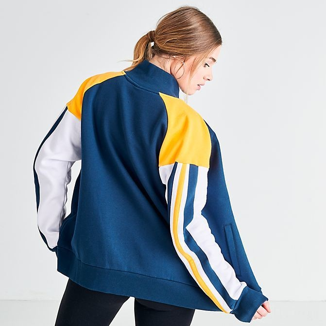 Women's Ellesse Jenia Full-Zip Track Jacket Navy/Yellow/White Sales