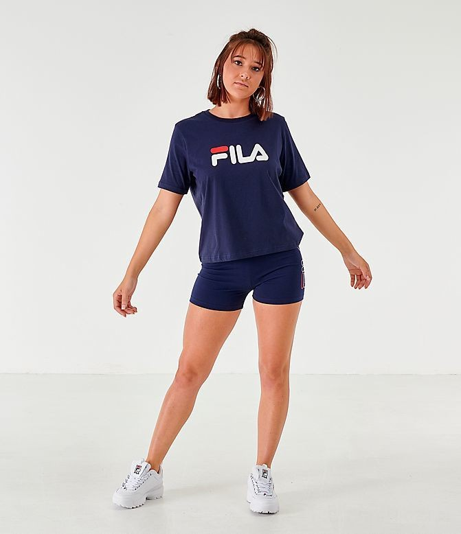 Women's Fila Miss Eagle T-Shirt Navy/White/Red Sales