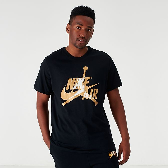 Men's Jordan Mashup Classics T-Shirt Black/Metallic Sales