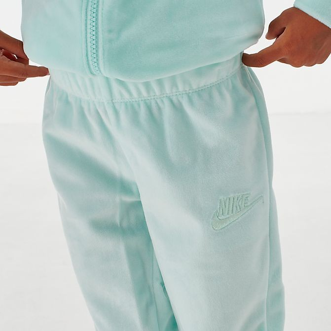 Girls' Little Kids' Nike Velour Track Set Teal Tint Sales