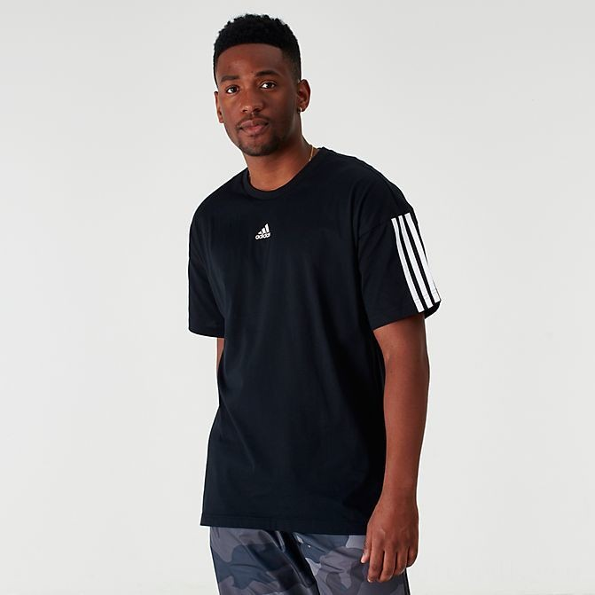 Men's adidas Badge of Sport Stripe T-Shirt Black Sales