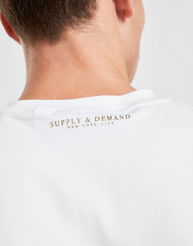 Men's Supply & Demand Roller Split T-Shirt Black/White Sales