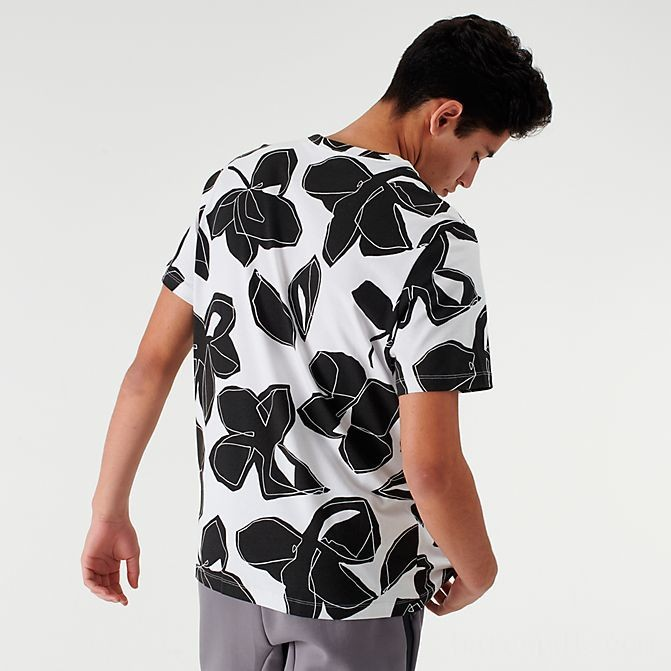 Men's Nike Sportswear Floral Allover Print T-Shirt White Sales