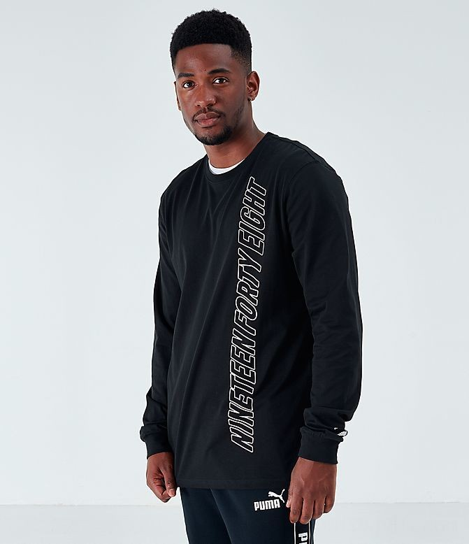 Men's Puma Luxe Long-Sleeve T-Shirt Black Sales